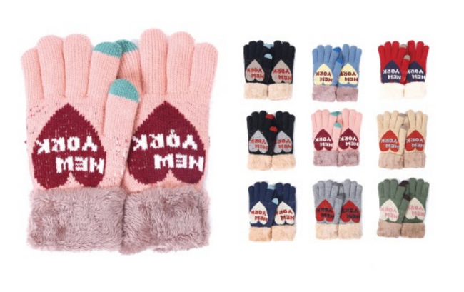 Wholesale Clothing Accessories Assorted Fall Winter Gloves NTT39