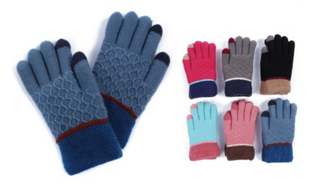 Wholesale Clothing Accessories Assorted Fall Winter Gloves NTT08