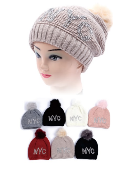 Wholesale Clothing Accessories Assorted Fall Winter Hats NTT63