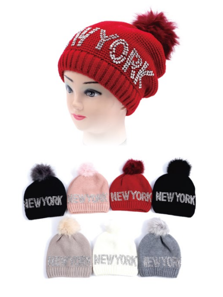 Wholesale Clothing Accessories Assorted Fall Winter Hats NTT64