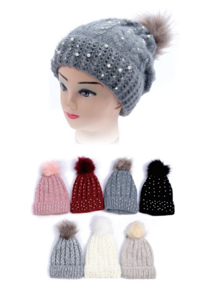 Wholesale Clothing Accessories Assorted Fall Winter Hats NTT81