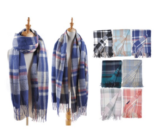 Wholesale Clothing Accessories Assorted Fall Winter Scarves NT77