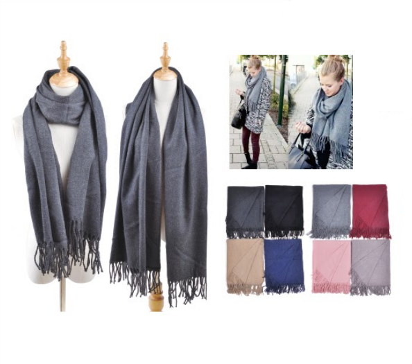 Wholesale Clothing Accessories Assorted Fall Winter Scarves NT78