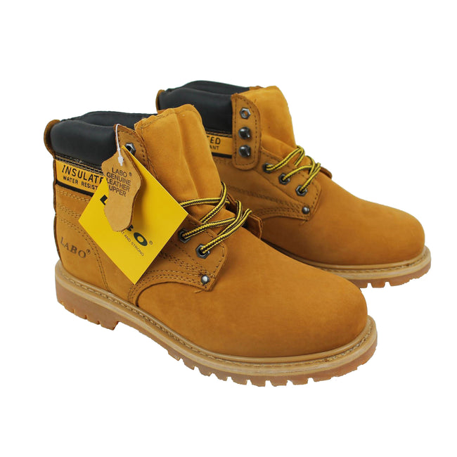 Wholesale Men's Shoes Work Boots Lace Up Steel Rounded Toe Leather NE51