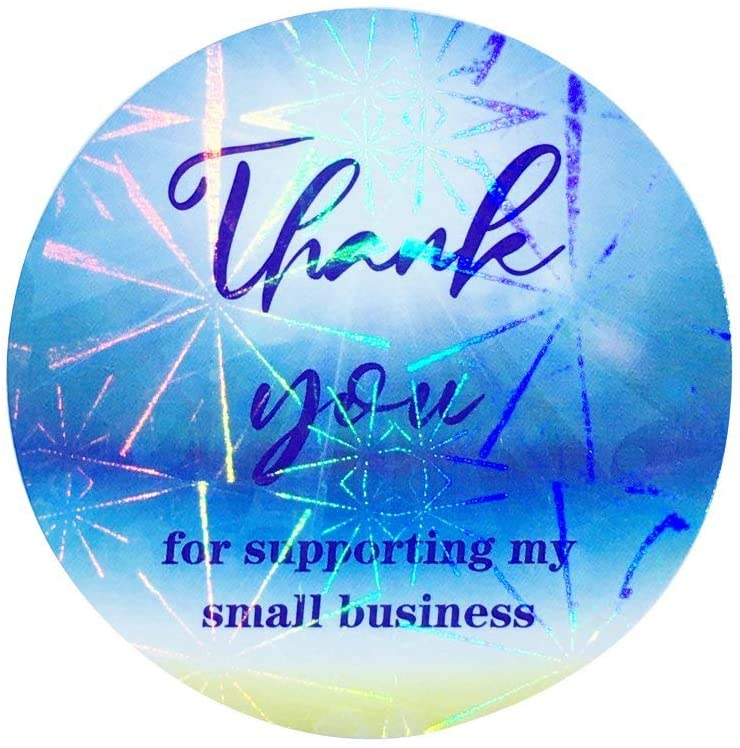 Wholesale Closeout Accessories Thank You for Supporting My Small Business, 2 Inch 4800 Labels , 8 Designs, Wrapping Supplies Round Shape Adhesive Labels, Decorative Sealing Stickers for Christmas Gifts, Wedding, Party N6Ss