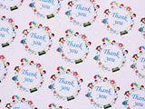 Wholesale Accessories Closeouts 1.5 inch Thank You Stickers in 8 Designs, Boutiques Shop Wrapping Supplies Round Shape Adhesive Labels, Decorative Sealing Stickers for Christmas Gifts, Wedding, Party, Style-Q, 10500 Labels N6T300