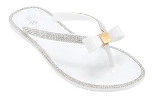 Wholesale Women's Shoes Flat Ribbon Thong Embellished Jennifer NGD2