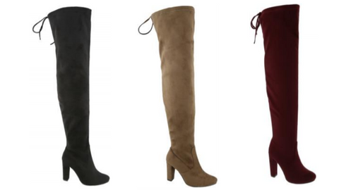 Wholesale Women's Shoes Round Toe Over-the-Knee Western Boots NPJK
