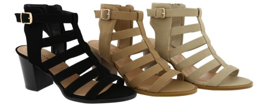 Wholesale Women's Shoes Chunky Heel Gladiator Sandals NPL8