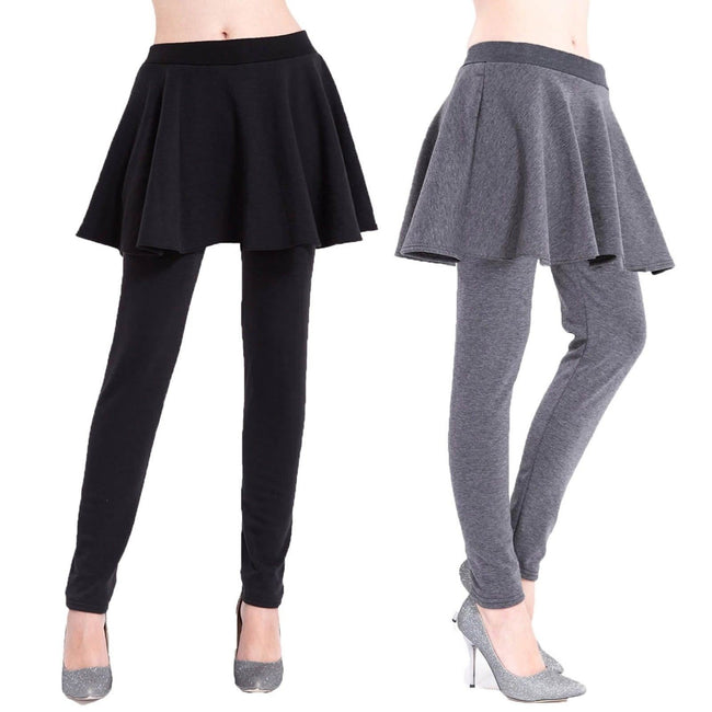 Closeout Wholesale Women's Fur-Lined Women's Skirts Leggings N613