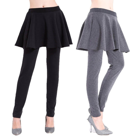 Closeout Wholesale Women's Random Cotton fleece leggings Mae-LG-COT-RAM