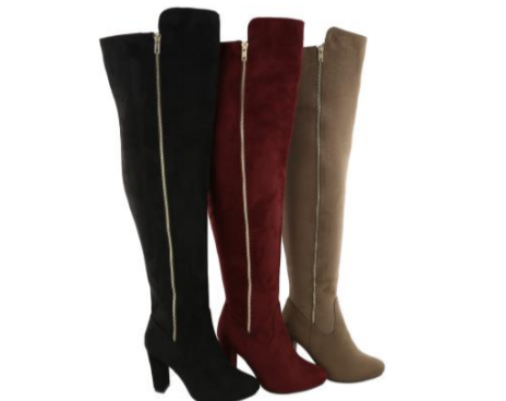 Wholesale Women's Shoes Thigh-High Boots Side Zipper NPZ5