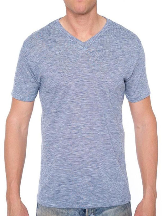 TRI-END ON END V-NECK TEE