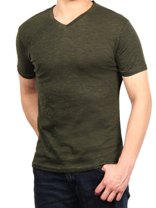 END ON END JERSEY SS V-NECK