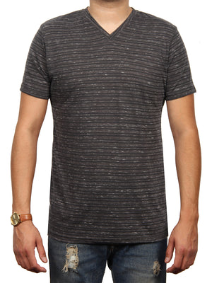 TIDAL WAVE STRIPE JERSEY SS V-NECK