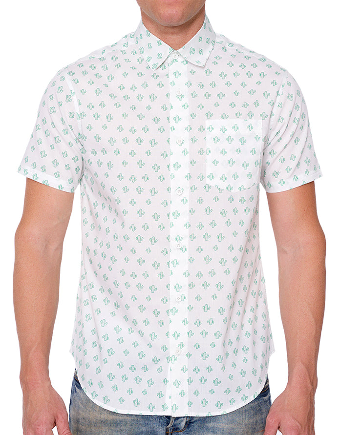CACTI PRINT BUTTON DOWN SHIRT