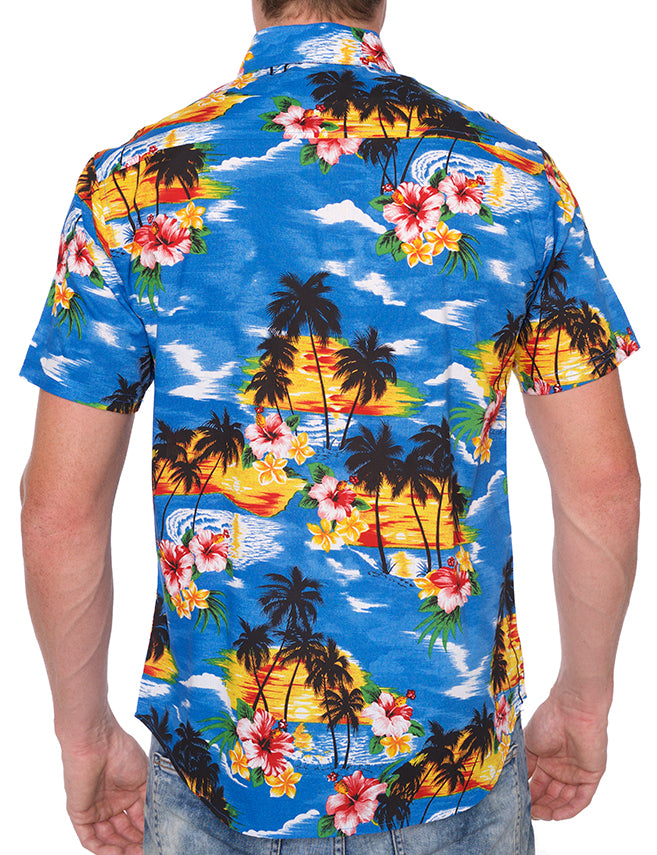 HAWAIIAN PRINT BUTTON DOWN SHIRT