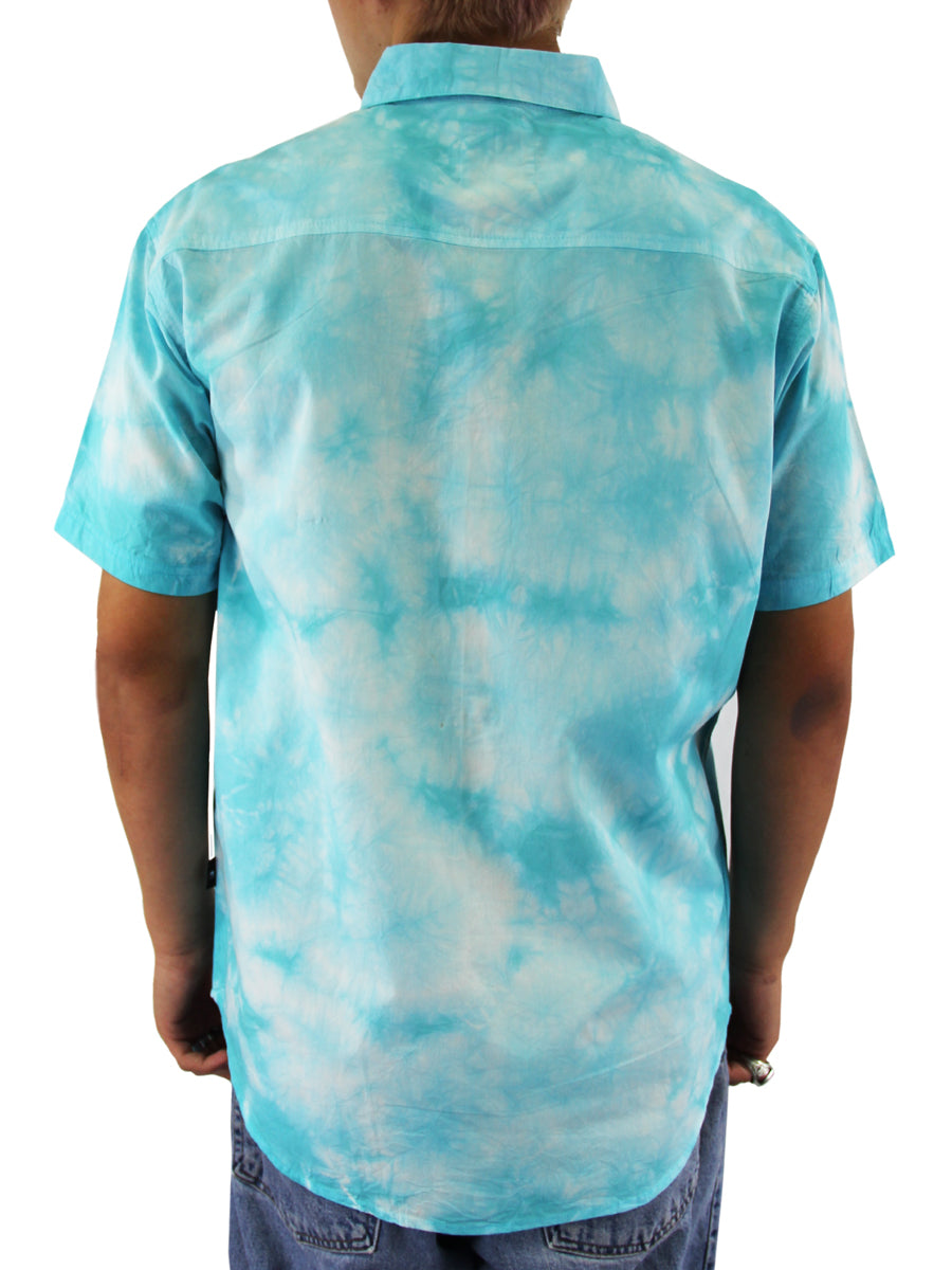 REEF TIE DYE BUTTON DOWN SHIRT