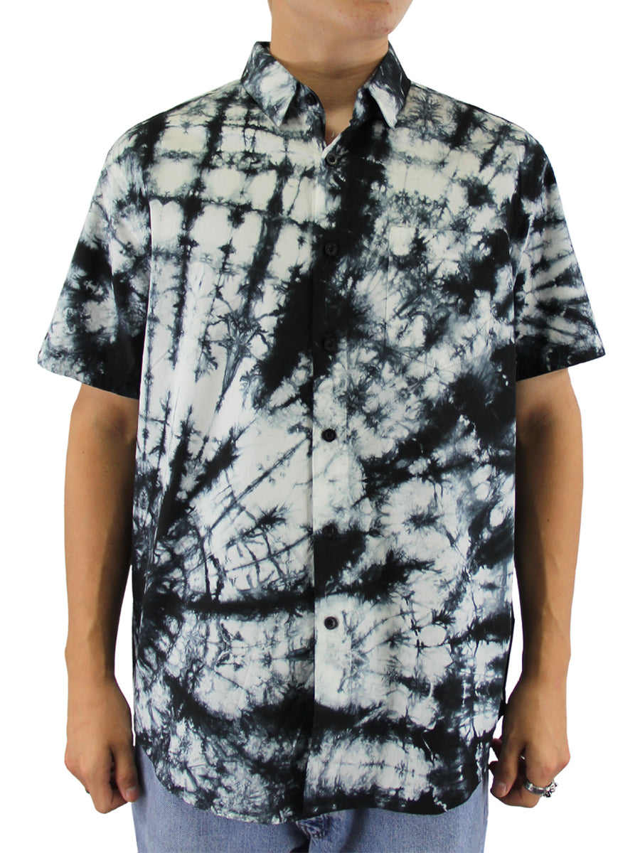 SPIRAL TIE DYE BUTTON DOWN SHIRT
