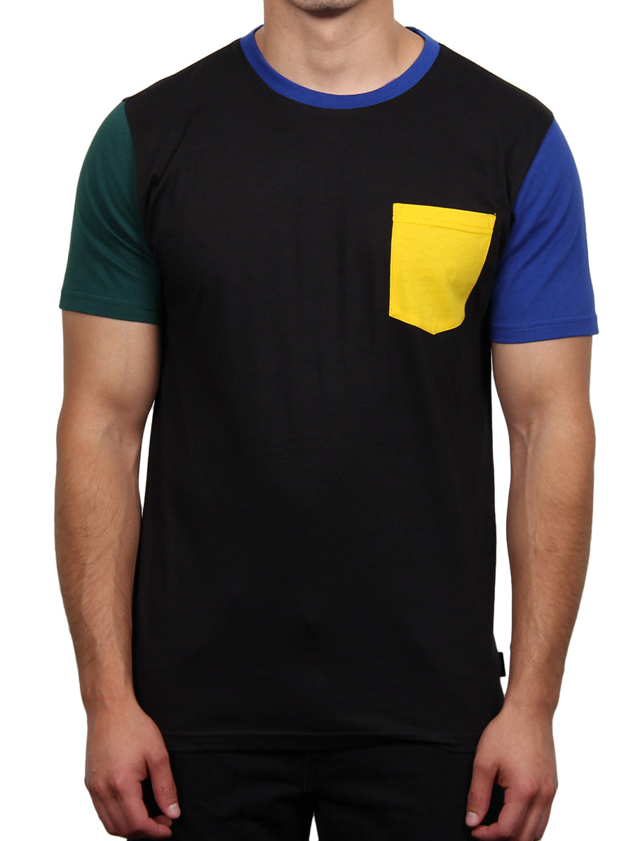 RICH COLOR BLOCK CREW NECK TEE