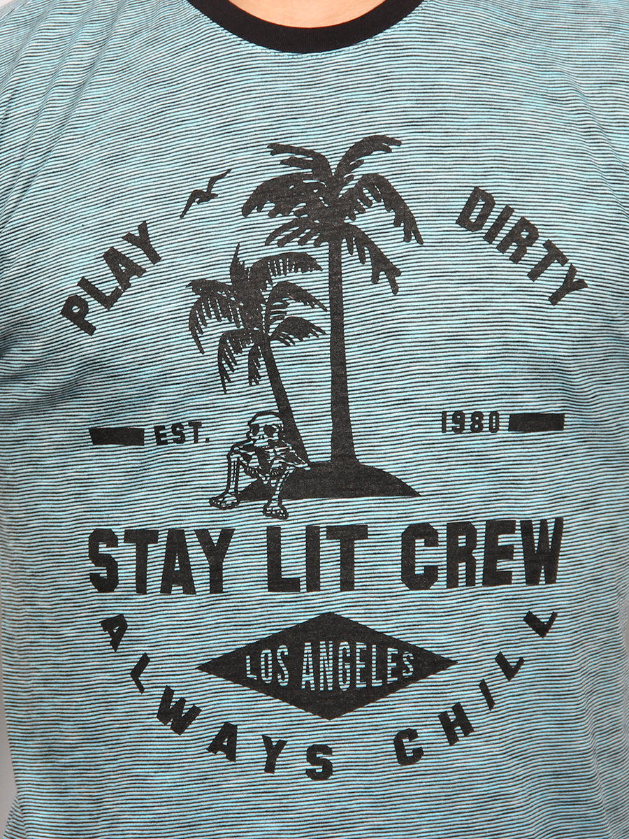 STAY LIT CREW NECK T-SHIRT