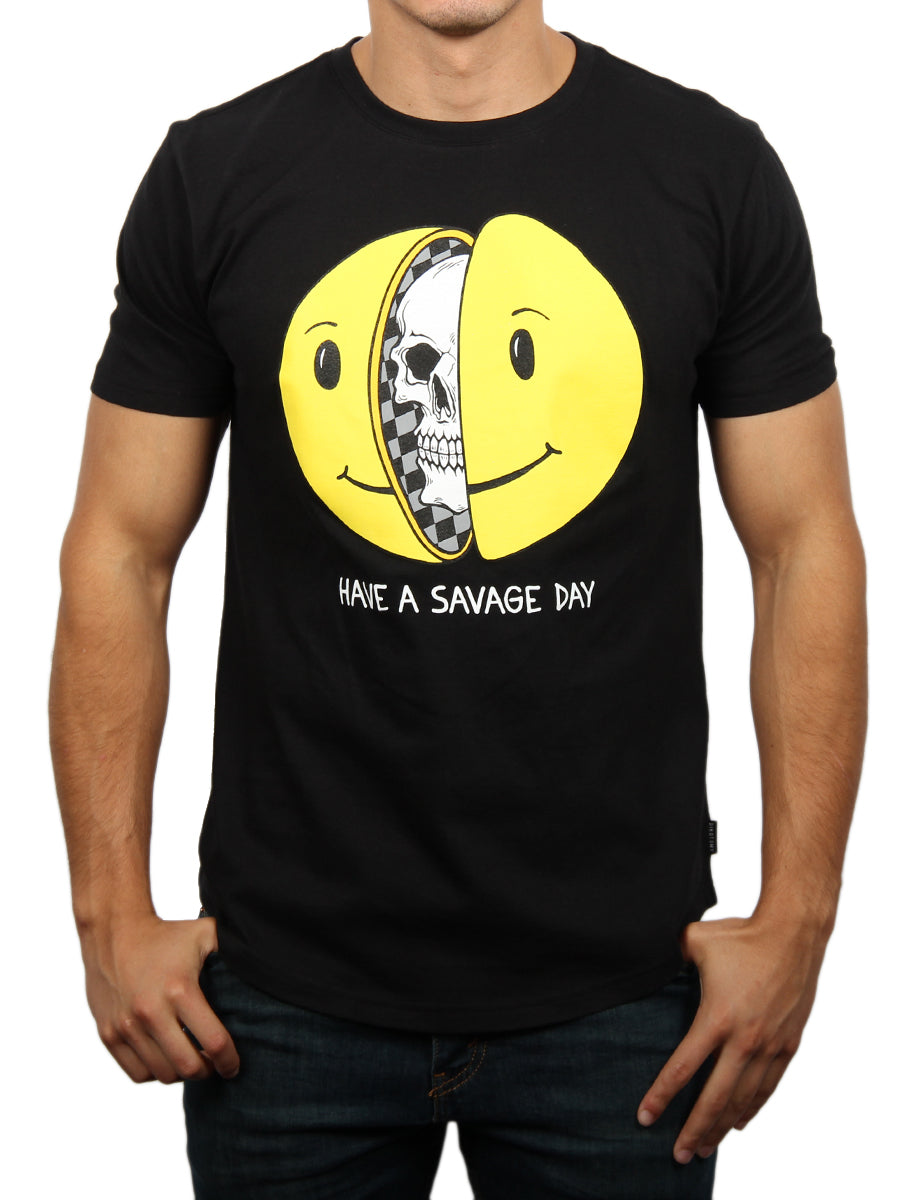 SAVAGE DAY CREW NECK T-SHIRT
