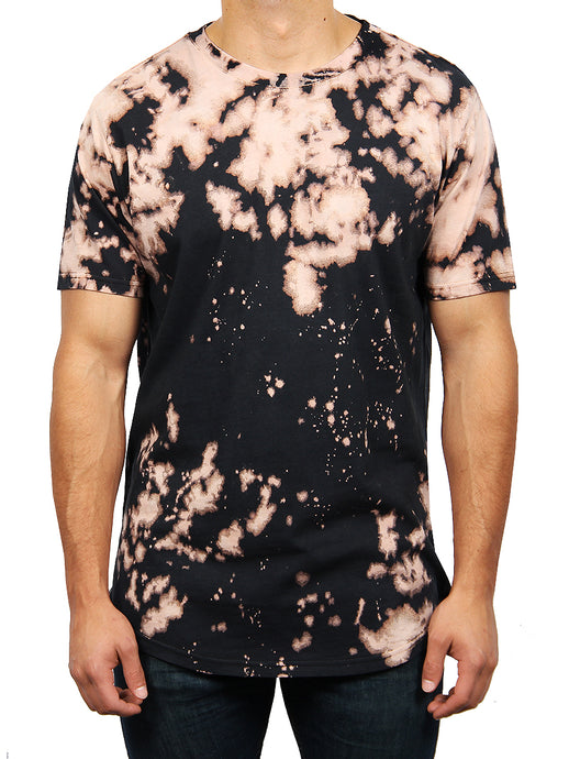 BLEACH TIE DYE CREW NECK T-SHIRT