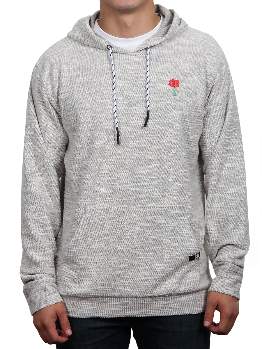ROSE PRIDE PULLOVER HOODIE-LIGHT GREY  SKU: W2447-0294EM