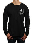 RABBIT DAB LONG SLEEVE CREW NECK TEE