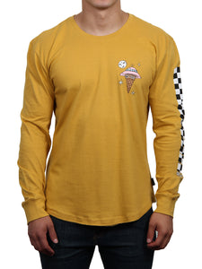 GET LOST LONG SLEEVE CREW NECK TEE