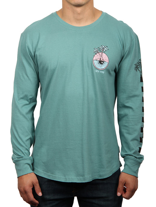 I SEA LONG SLEEVE CREW NECK TEE