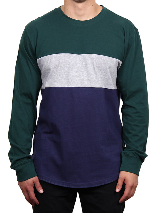 DIEGO PANEL CREW LONG SLEEVE TEE