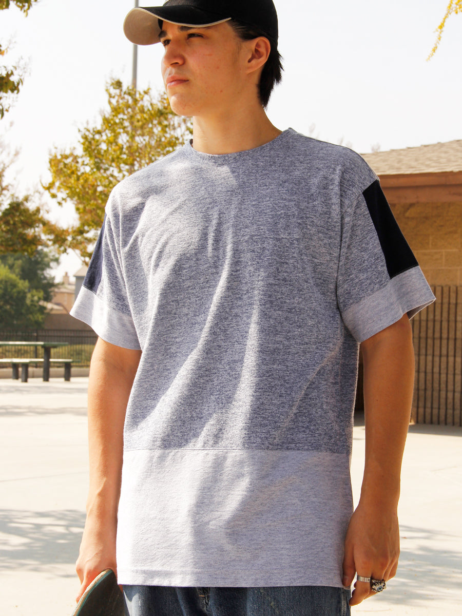 PANEL BLOCK  BOXY CREW NECK