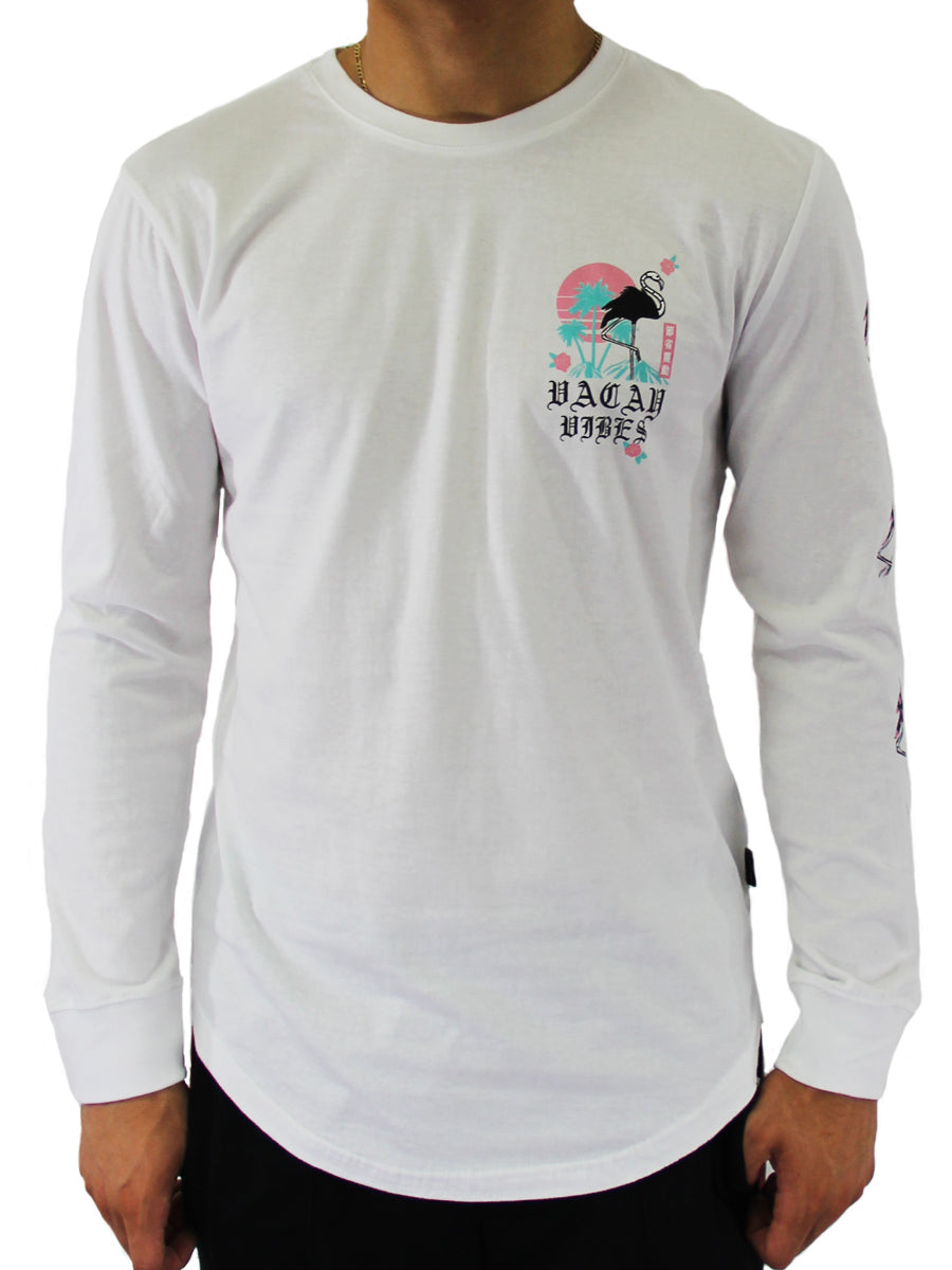 BIRD TRAP LONG SLEEVE CREW NECK TEE