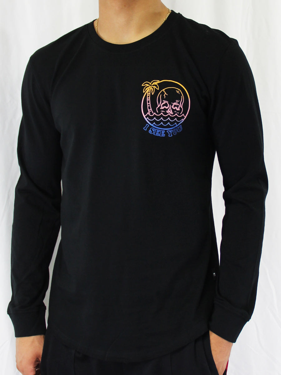 DEEP SEA LONG SLEEVE CREW NECK TEE