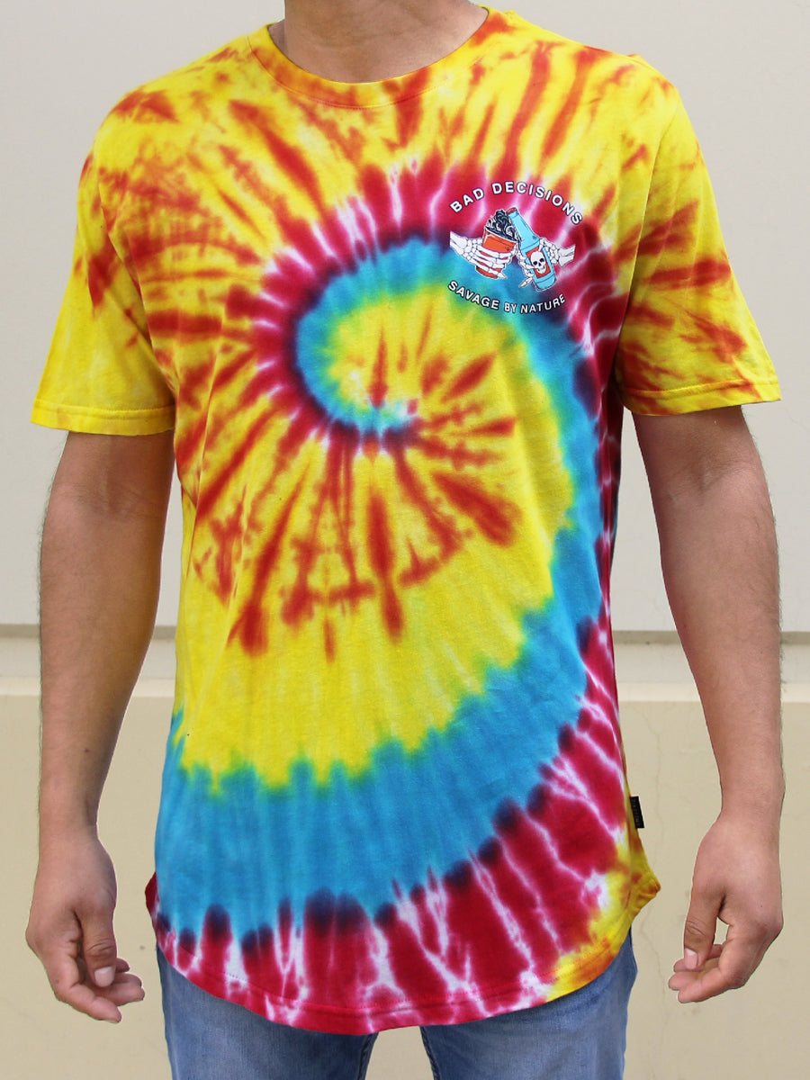 FIRST ROUND RETRO TIE DYE WASH TEE