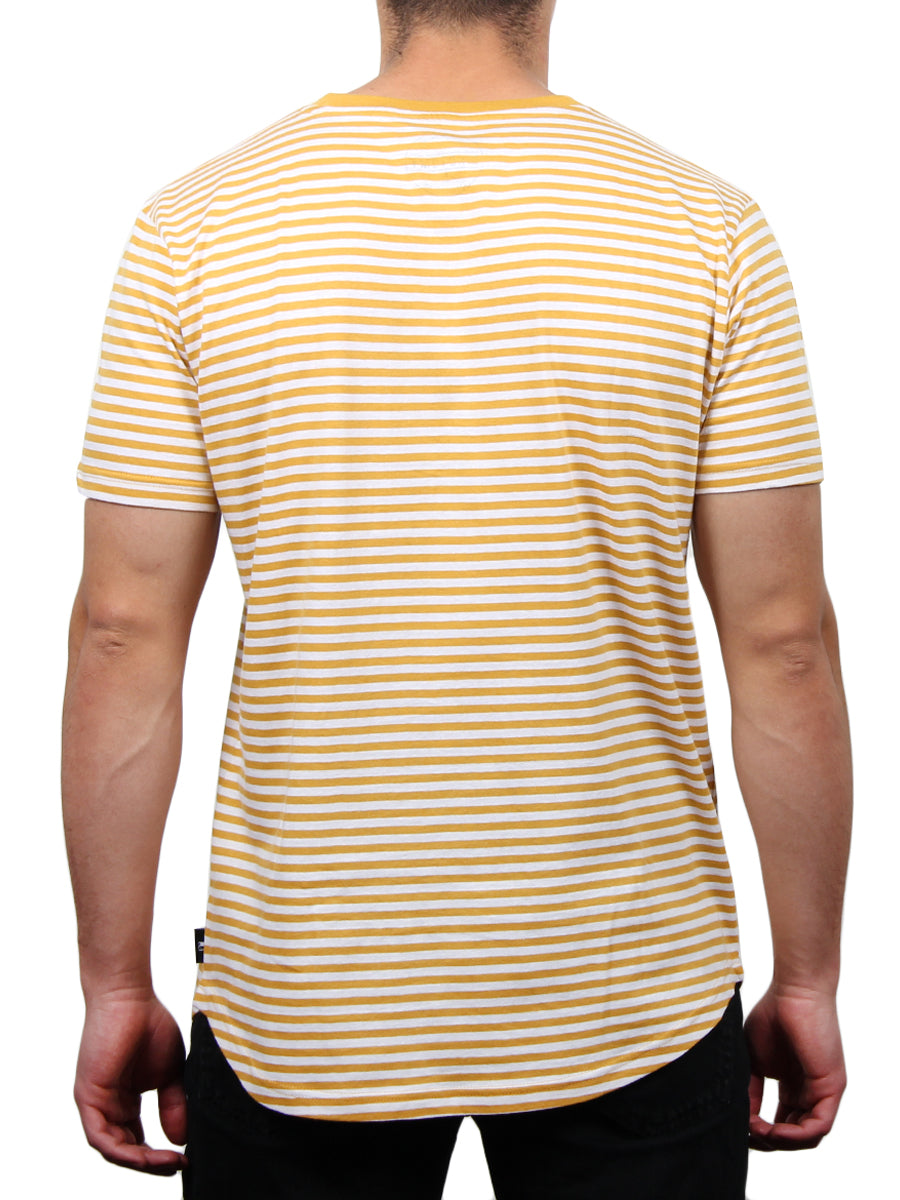 EMPIRE STRIPE CREW NECK TEE