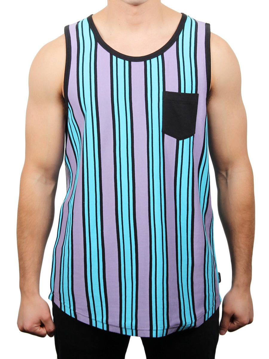 EVAN VERTICAL STRIPE RINGER TANK