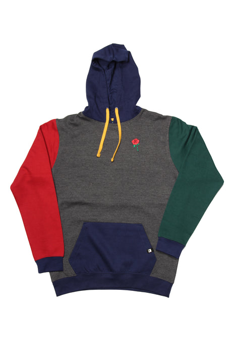 ROSE LOVE COLOR-BLOCK PULLOVER HOODIE