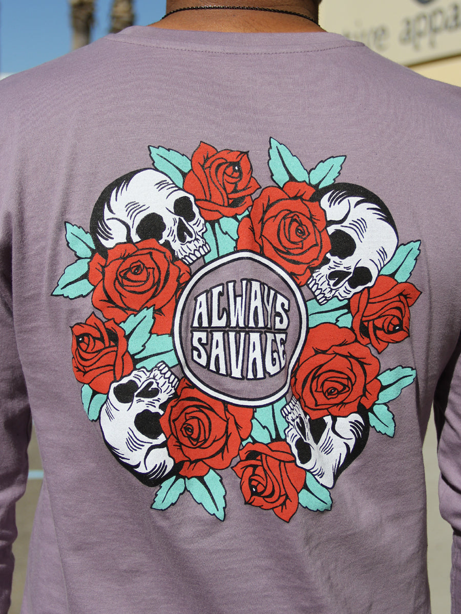 SAVAGE BUNCH LONG SLEEVE CREW NECK TEE