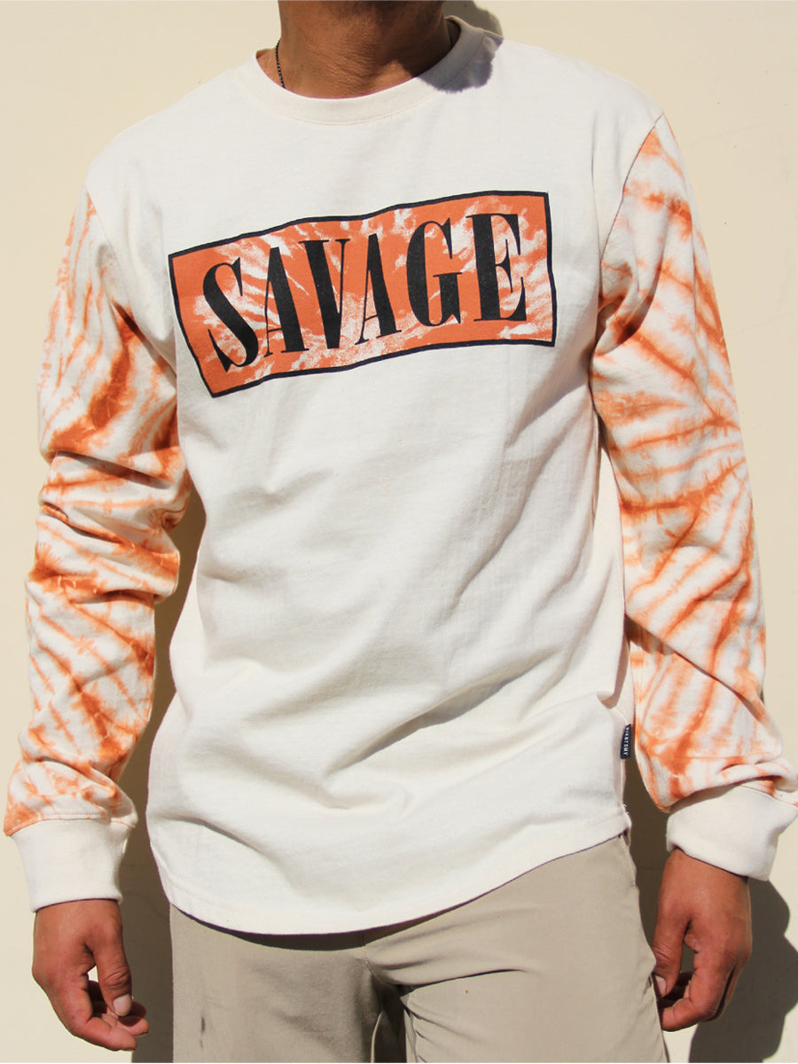 TIE DYE BLISS LONG SLEEVE CREW NECK TEE