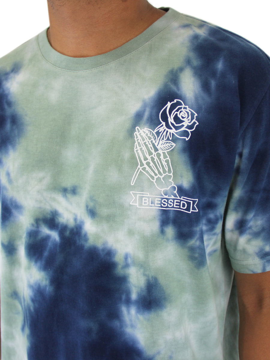 CRYSTAL WASH BLESSED CREW NECK T-SHIRT