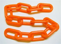 8mm Plastic Chain - 5 FT Length - Orange