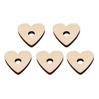 Pine Wood Hearts - Natural