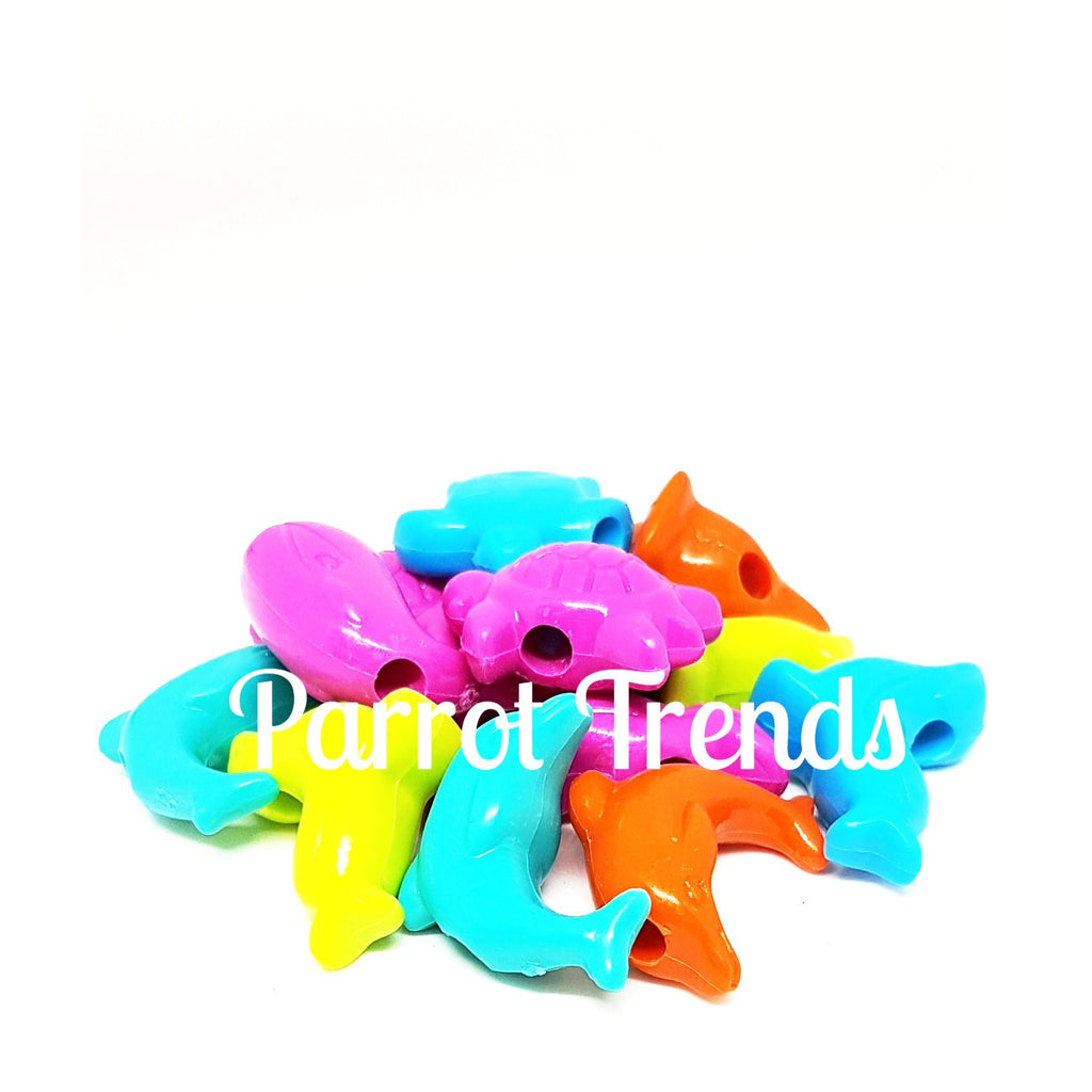 Plastic Jumbo Pony Beads Marine Zoo Animal 25mm