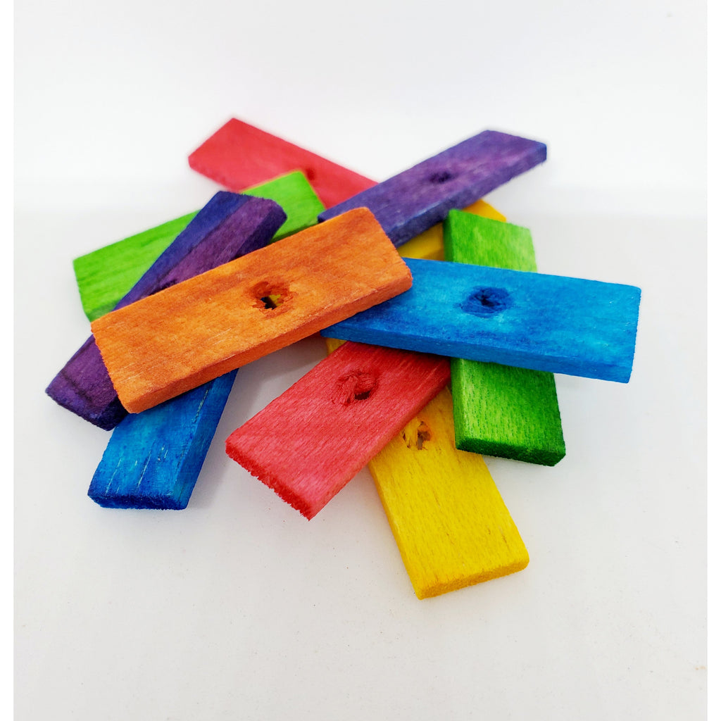 "Balsa Colored 1/8"" x 1/2"" x 1-1/2"" with 5/32"" Hole - BULK"