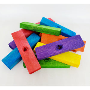 "Balsa Colored 2"" x 1/2"" x 1/4"" with 3/16"" Hole - BULK"
