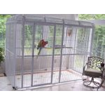 "Large 110""x62"" Walk In Aviary - 1"" Bar Spacing"