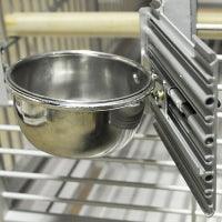 10 oz. Stainless Steel Bowl and Screws for King's Cages Aluminum Cages & Travel Cages