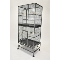 Double Stacked Flight Cage for Small Birds